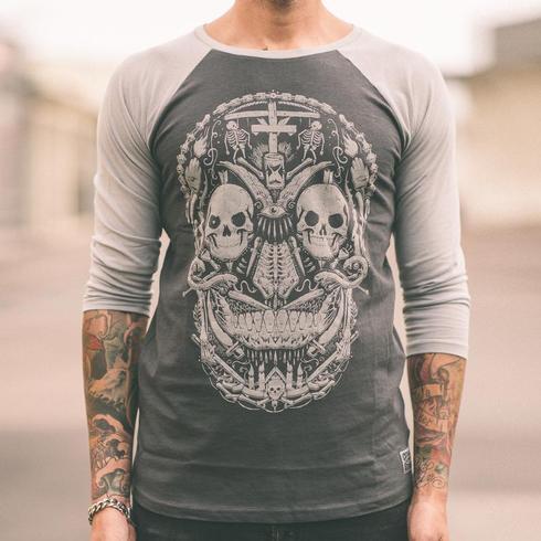 Cuts & Stitches - Hangmans Cross Baseball Shirt