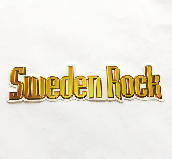 Sweden Rock Wear - Klistermärke. 15 cm.