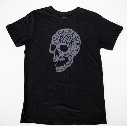 Sweden Rock Wear - T-shirt - Limiterad - Skull 2018