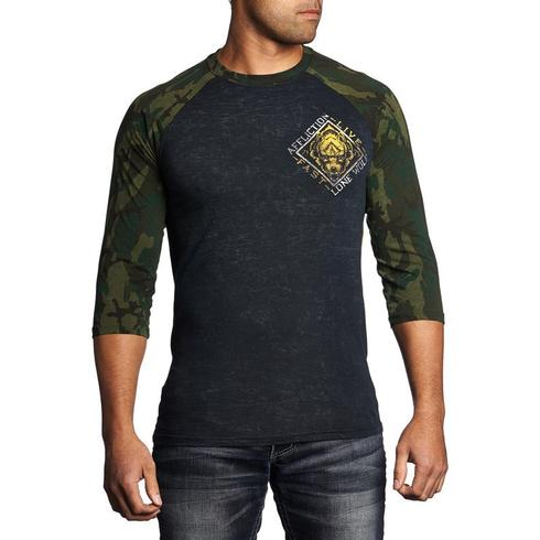 Affliction - Lone Wolf Baseball Tee