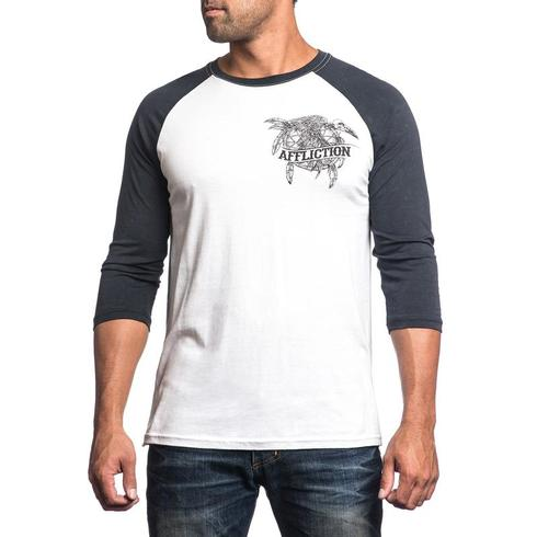 Affliction - Crow Fall Baseball Tee