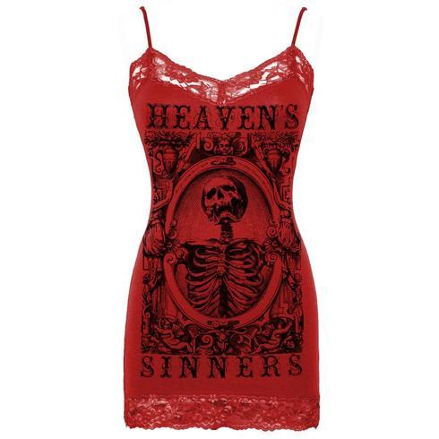 Seven Deadly - Womens Heavens Sinners Camisole Crimson