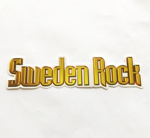 Sweden Rock Wear - Bakrutedekal. 40 cm.